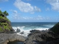 Photo of rocky coastline