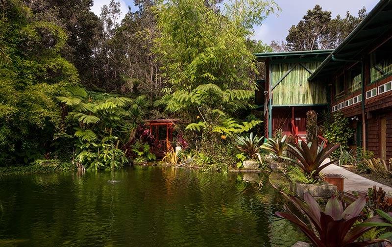 Chalet Kilauea Hotel Exterior Pond
