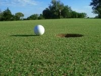 Photo of golf ball on green